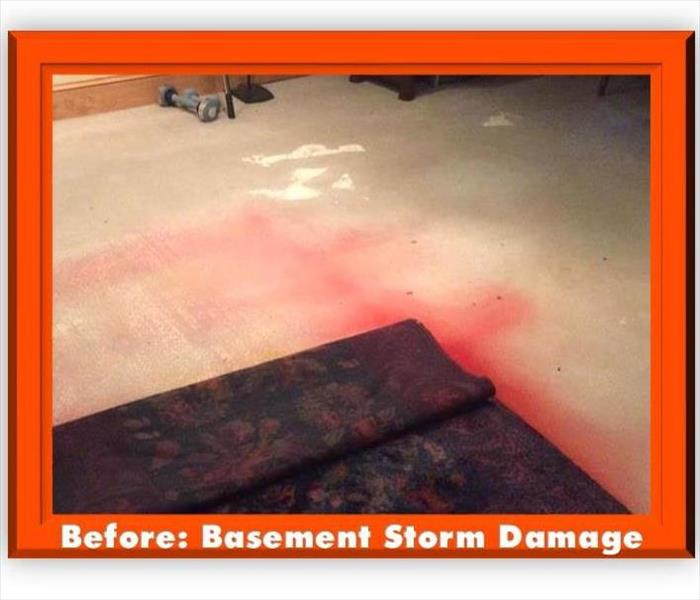 Storm Damage to basement Before