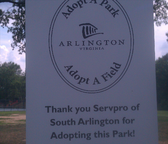 SERVPRO of Annandale/Falls Church/McLean/S.Arlington adopted a park.